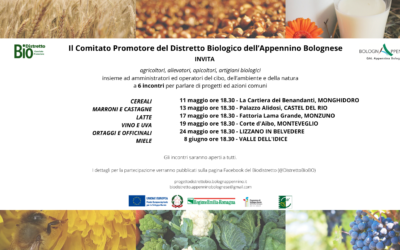 Gli incontri del Progetto Distretto Biologico dell'Appennino Bolognese