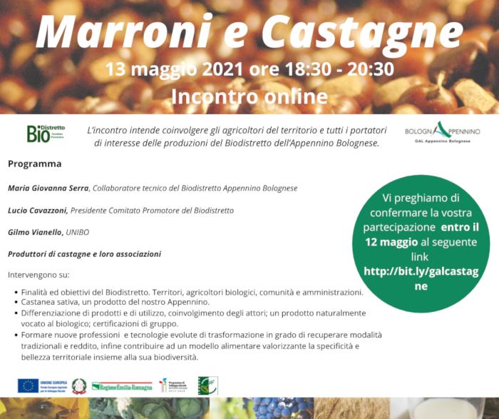 Marroni e Castagne – 13 maggio 2021