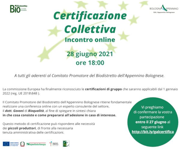 Certificazione Collettiva – 28 giugno 2021